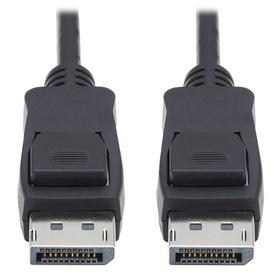 DisplayPort 1.4 Cable with Latching Connectors - 8K UHD, HDR, 4:2:0, HDCP 2.2, M/M, Black, 1 ft.