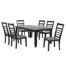 View Product - Dining Extendable Table w/Ladder Back Chairs (7 Piece)