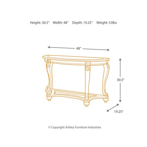 Norcastle Sofa/console Table