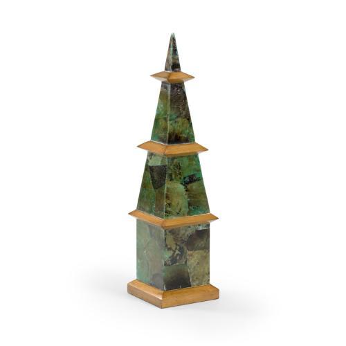 Pagoda Obelisk - Malachite
