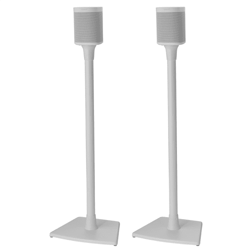 White Wireless Speaker Stands designed for Sonos ONE, Sonos One SL, PLAY:1 and PLAY:3