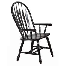 See Details - Comfort Dining Arm Chair - Antique Black