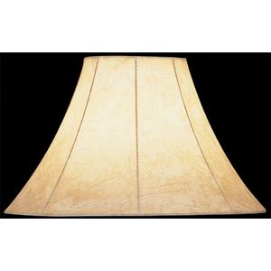 """Faux Leather Bell Shade - 6""""tx16""""bx12""""sl"""