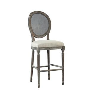 Renton Bar Stool, Rattan Back