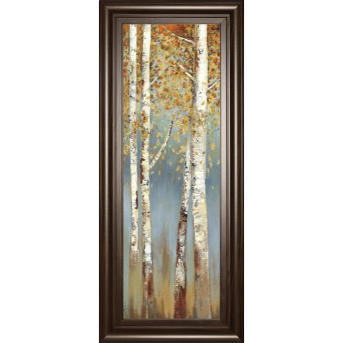 """Butterscotch Birch Trees I"" By Allison Pearce Framed Print Wall Art"