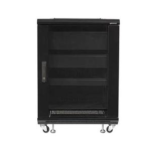 "Black 34"" Tall AV Rack 15U Component rack for home theater equipment"