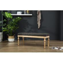 Habit Solid Wood Charcoal Button Tufted Dining Bench