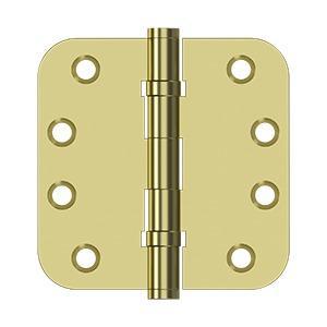 "Deltana - 4"" x 4"" x 5/8"" Radius Hinges, Ball Bearing - Polished Brass"