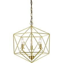 AF Lighting Bellini Three-Light Chandelier in Brushed Gold, 9131-3H