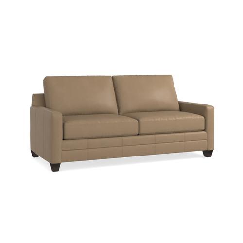 Bassett Furniture - Carolina Leather Thin Track Arm Sofa