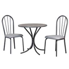 See Details - Steel Gray Dining Table Set (3 Piece)