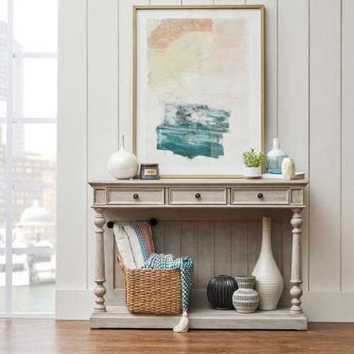 Accentrics Home - Three Drawer Farmhouse Console Table in Prairie Beige