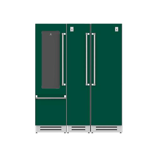 "Hestan - 66"" Wine Refrigerator (L), Column Freezer and Refrigerator ® Ensemble Refrigeration Suite - Grove"