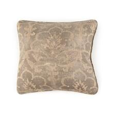 Toss Pillow with a Floral Grey Pattern