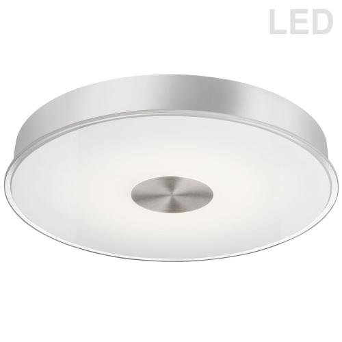 29w Flushmount, Sc W/ Frosted Clear Edge Glass