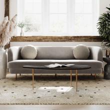 View Product - Sariah Alabaster Velvet Sofa
