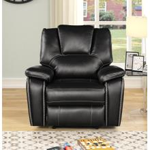 8087 BLACK Power Recliner Air Leather Recliner