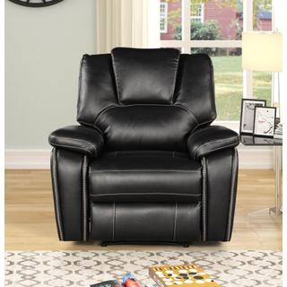 See Details - 8087 BLACK Power Recliner Air Leather Recliner