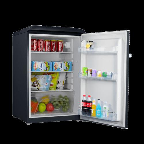 Galanz 4.4 Cu Ft Retro Single Door Refrigerator in Vinyl Black