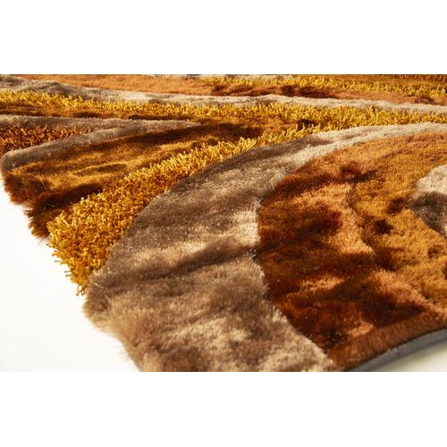 Designer Shag S.V.D. 26 Area Rug by Rug Factory Plus - 5' x 7' / Orange