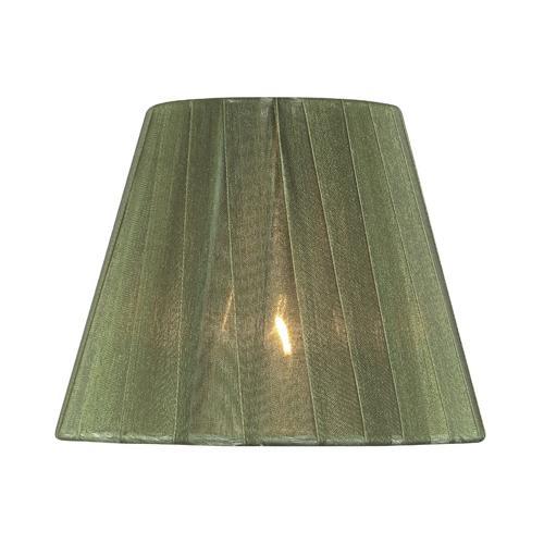 """Candelabra Shade/green Pleated - 3""""tx6""""bx5""""sl"""