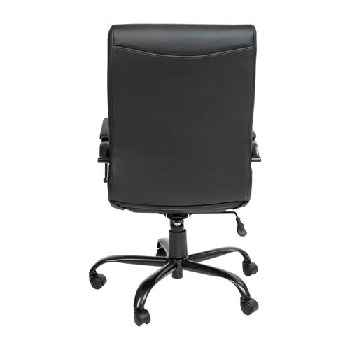 Gallery - High Back Black LeatherSoft Executive Swivel Office Chair with Black Frame and Arms