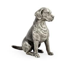 Antique White Brass Beagle Dog