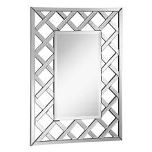 Modern 28.5 in. Contemporary Mirror in Clear