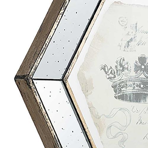 A & B Home - S/4 Simeon Crown Prints,Large