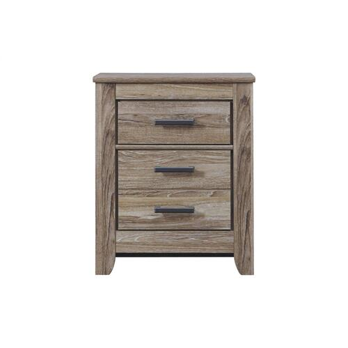 Zelen Two Drawer Night Stand Warm Gray