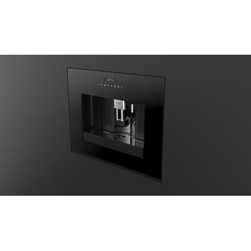 "24"" Built-in Coffee Machine - Black Glass"