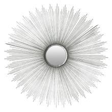 See Details - Sun Burst Mirror - Silver