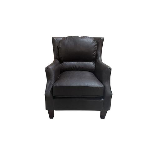 Garnett Black Leather Accent Chair, ACL522
