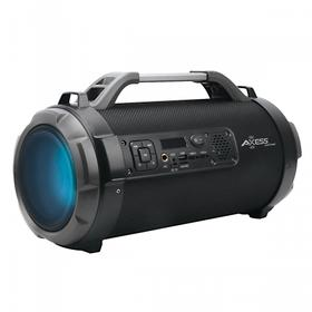 Fabric Bullet Indoor Outdoor Portable Bluetooth® Speaker LED Lighting 180W PMPO W/ Karaoke Func. & USB, SD, FM Radio, Aux-in