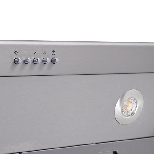 Product Image - 30 Inch Professional Range Hood, 16.5 Inches Tall In Stainless Steel