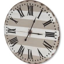 """See Details - Belton 41.5"""" Round Oversize Farmhouse Wall Clock"""