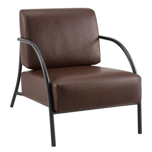 Modern Espresso Accent Chair