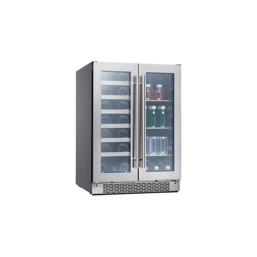 "24"" French Door Dual Zone Wine & Beverage Cooler"