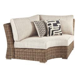 Beachcroft Curved Corner Chair With Cushion