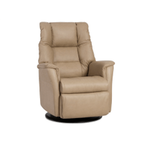 Verona Standard Size Glider Rocking Recliner in Sand Leather