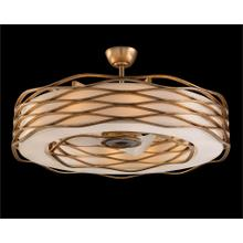 See Details - Ribbons of Gold Twelve-Light Pendant with Fan