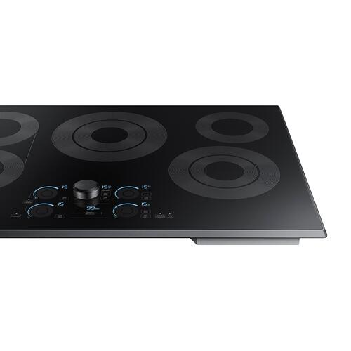 "30"" Smart Electric Cooktop with Sync Elements in Black Stainless Steel"