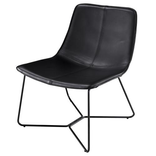 Zuma KD PU Accent Chair, Mission Black