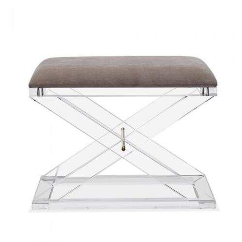 Asher Stool - Grey Velvet