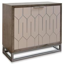 TWO DOOR SIDE BOARD  17in w X 37 ht X 38in d  Solid Wood Sideboard Stained Gray with Abalone Doors