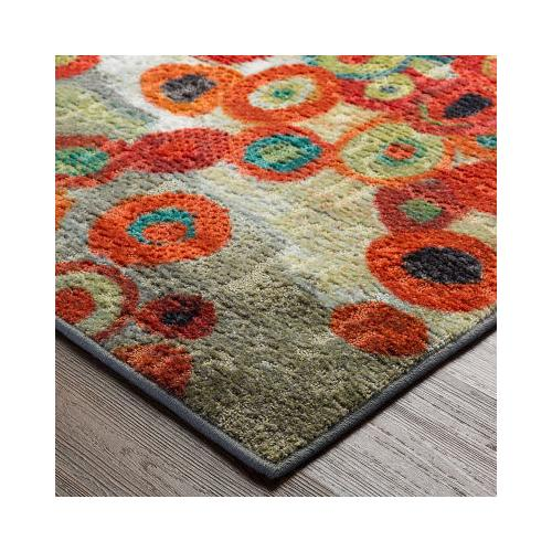 Mohawk - Tossed Floral, Multi- Rectangle