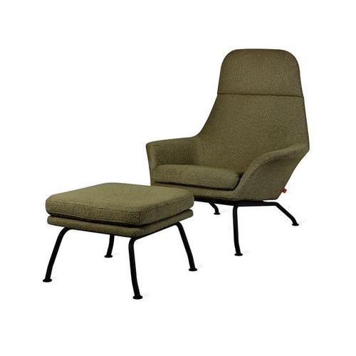 Tallinn Chair & Ottoman New Copenhagen Terra / Black