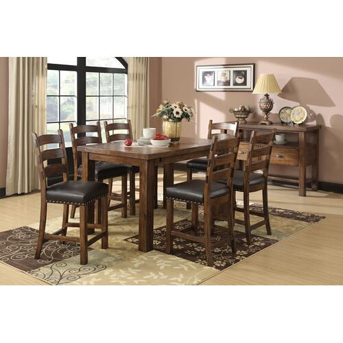 Chambers Creek Gathering Height Dining Table, Rustic Pine D412-13-k
