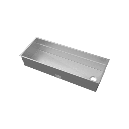 "SmartStation® 005404 - undermount stainless steel Kitchen sink , 48"" × 18 1/8"" × 10"" (Maple)"