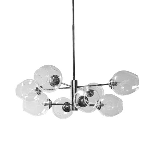 8lt Halogen Pendant, PC With Clear Glass